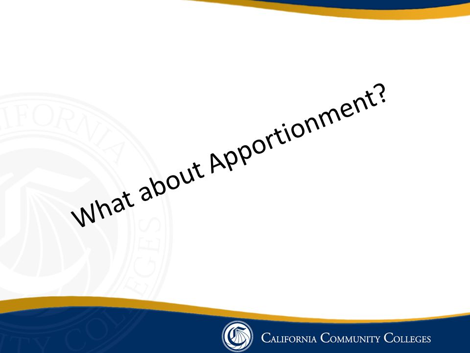 What about Apportionment
