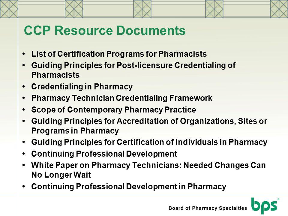 CCP Resource Documents