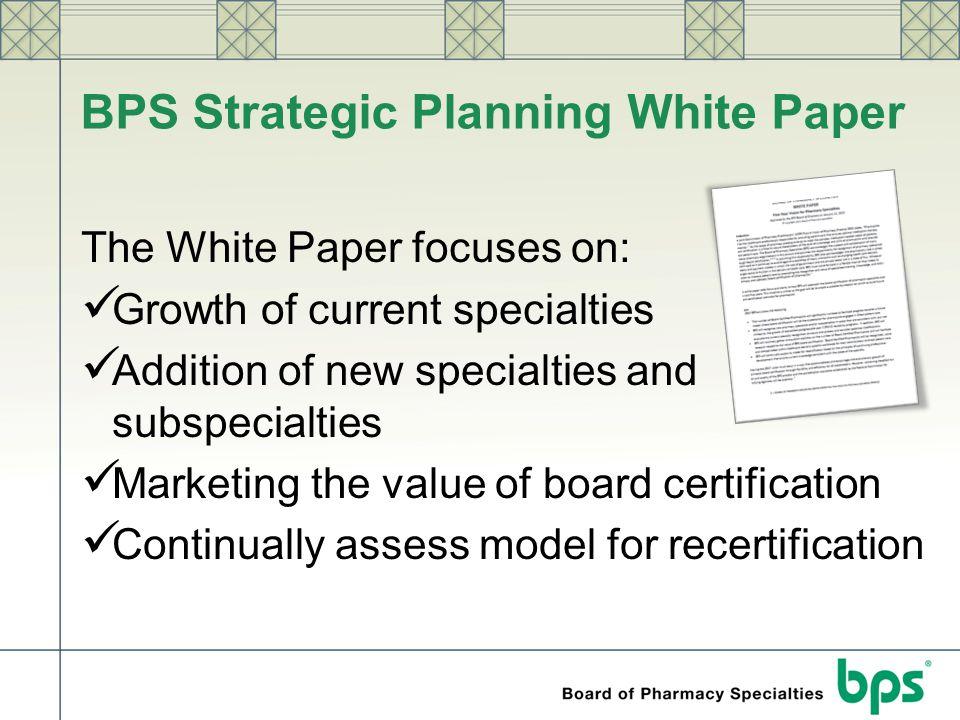 BPS Strategic Planning White Paper
