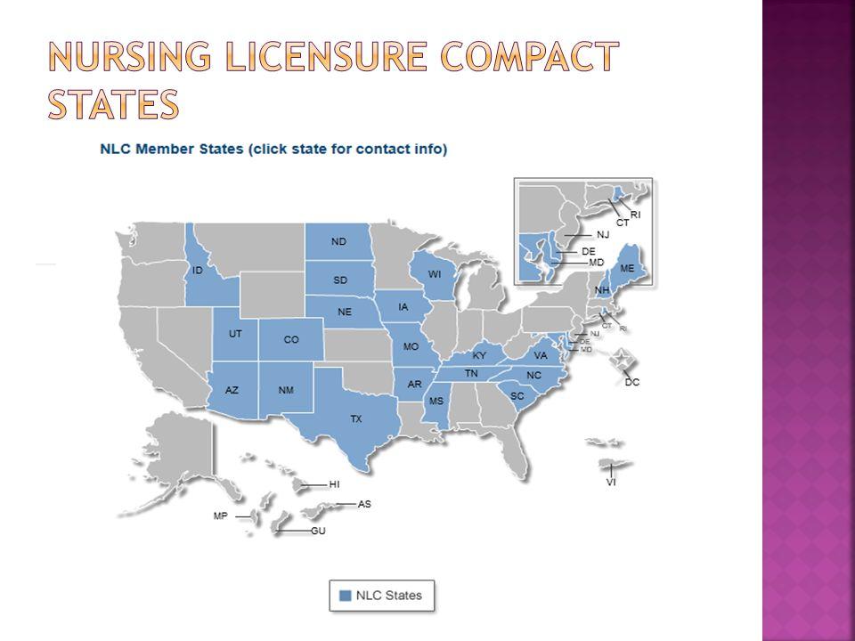 Nursing Licensure Compact States