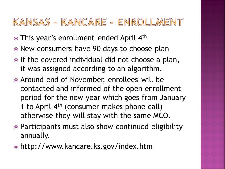 Kansas – Kancare - Enrollment