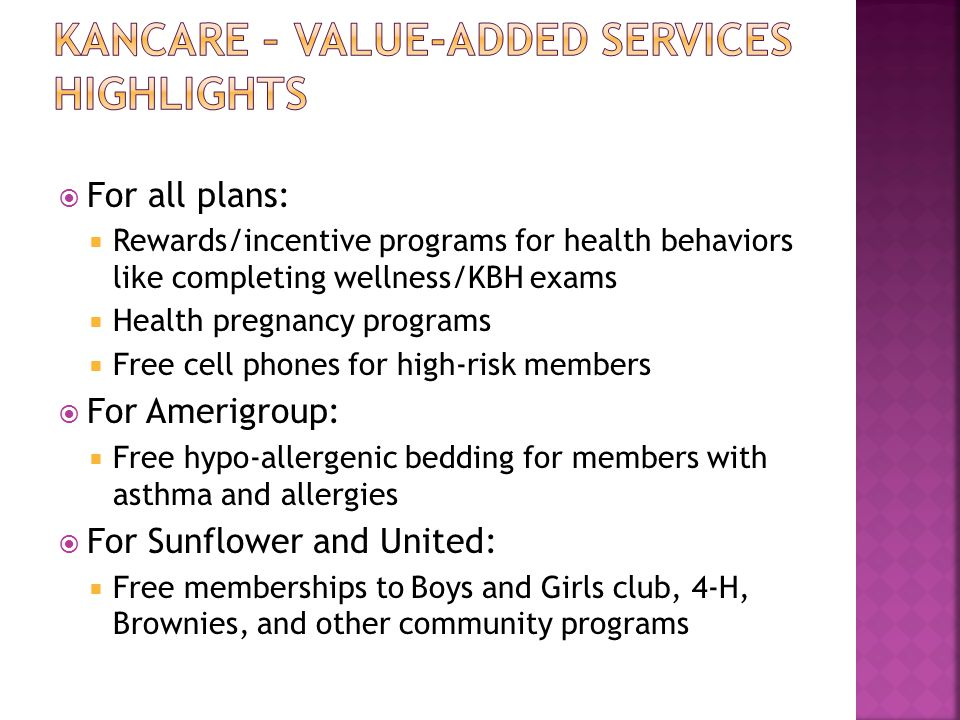 Kancare – Value-Added Services Highlights