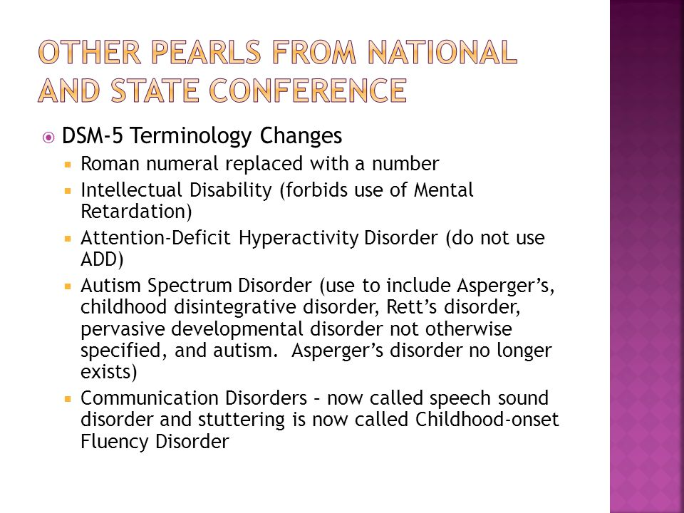 Other Pearls from National and State Conference