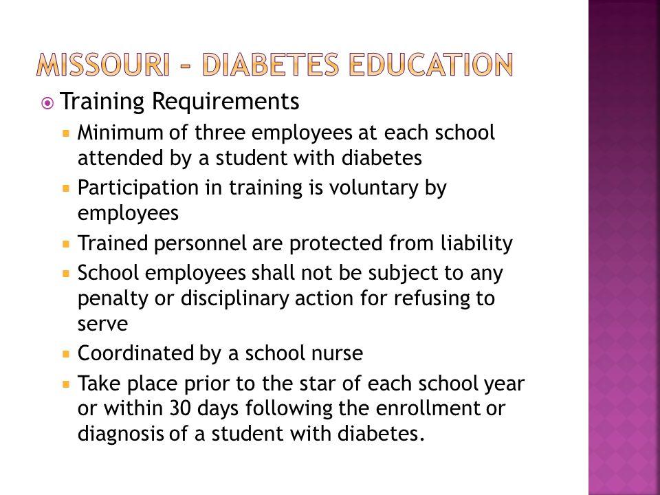 Missouri – Diabetes Education