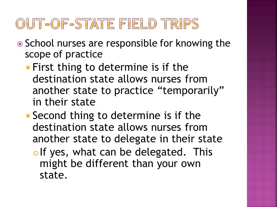 Out-of-State Field Trips
