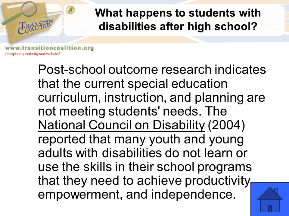 What happens to students with disabilities after high school