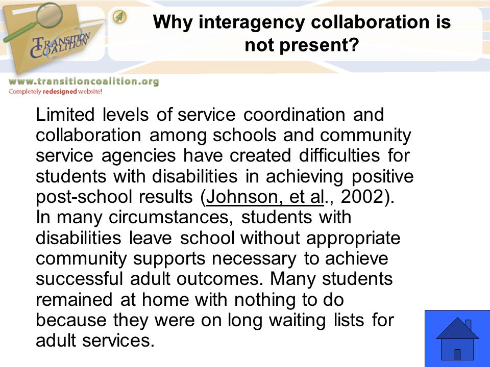 Why interagency collaboration is not present