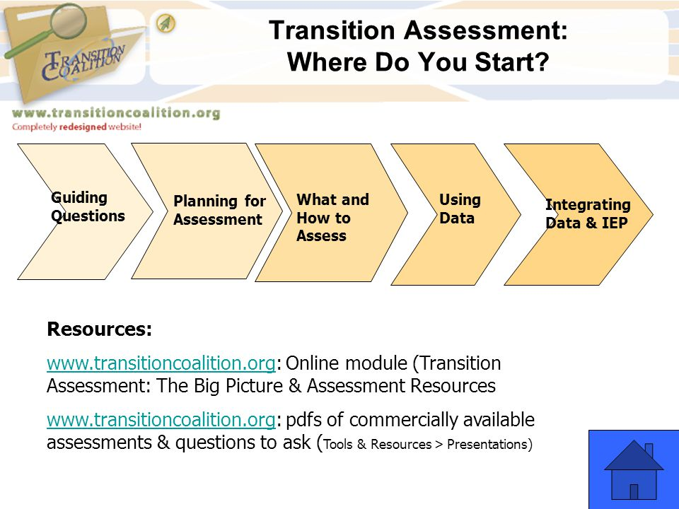 Transition Assessment: Where Do You Start