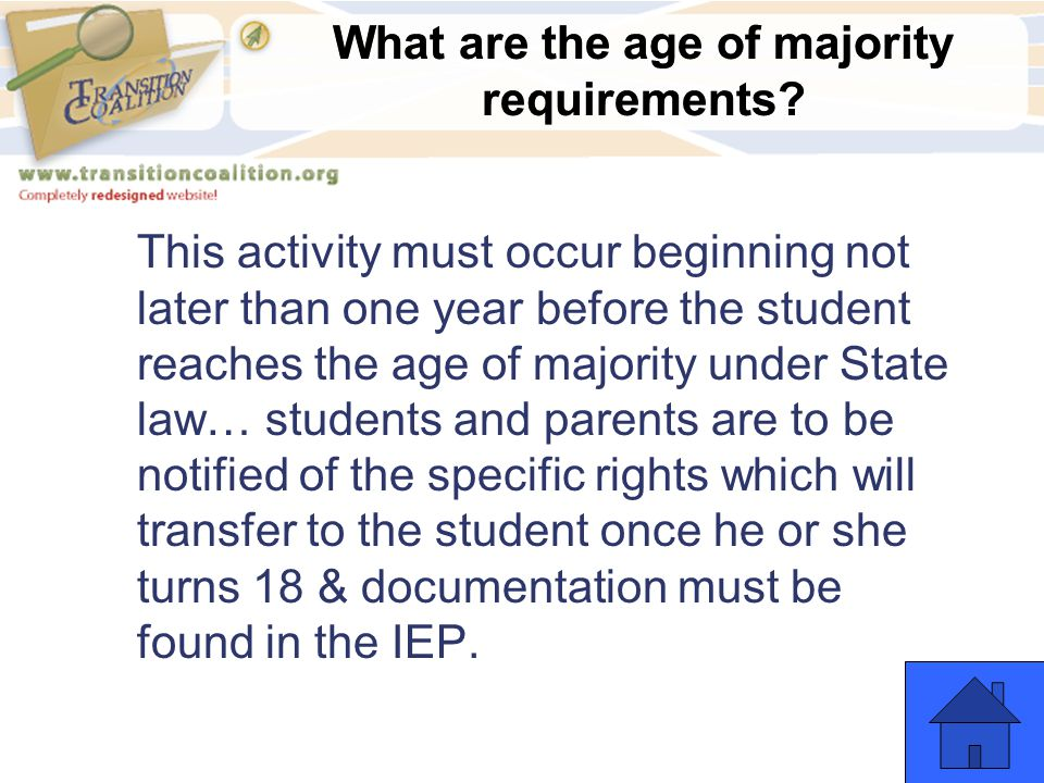 What are the age of majority requirements