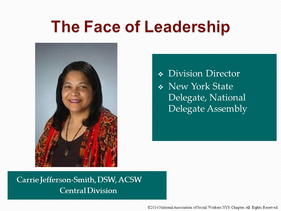 The Face of Leadership Division Director