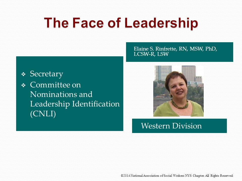 The Face of Leadership Secretary