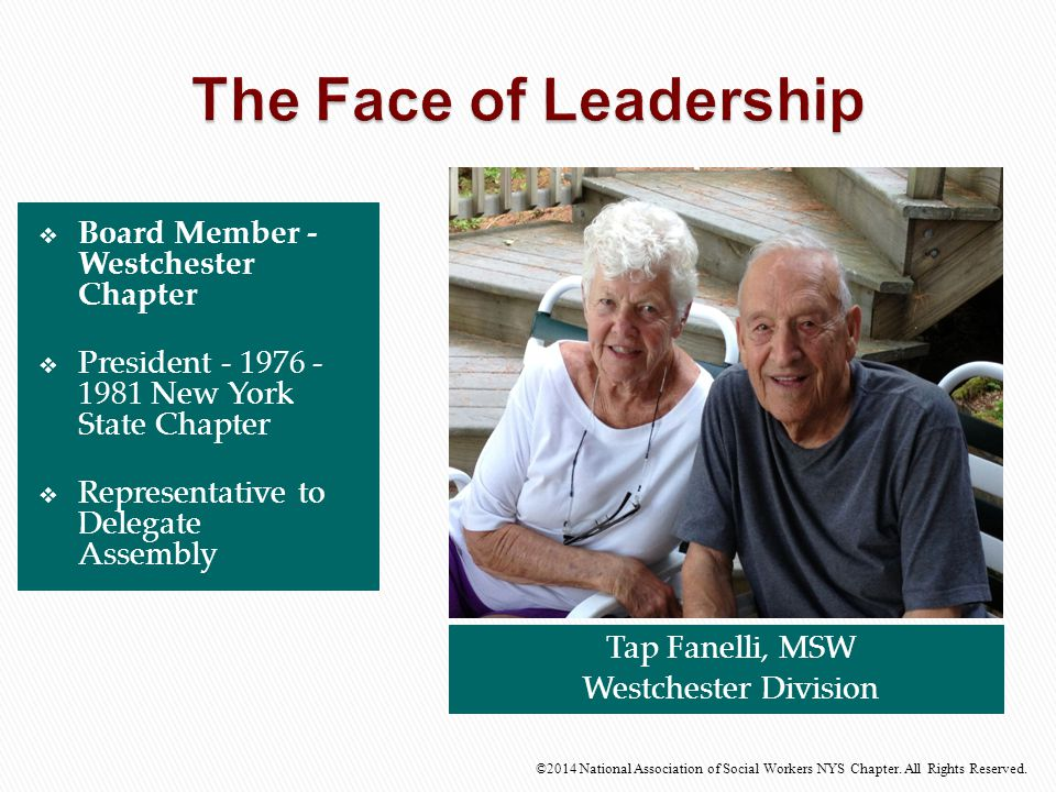 The Face of Leadership Board Member - Westchester Chapter