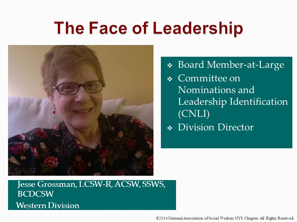 The Face of Leadership Board Member-at-Large
