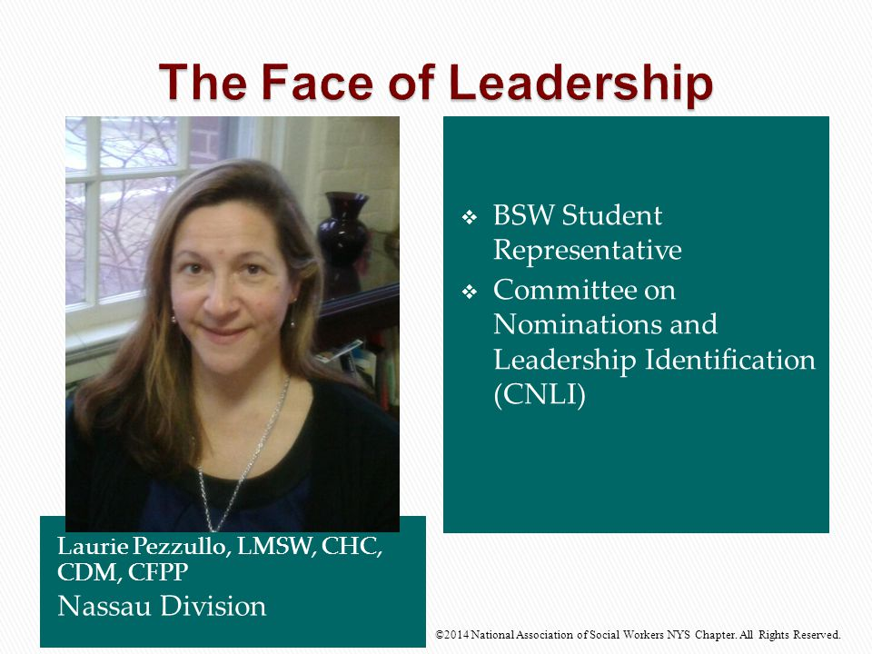 The Face of Leadership BSW Student Representative