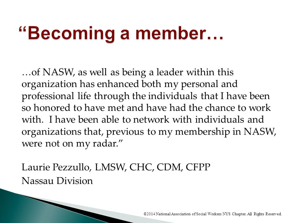 Becoming a member…