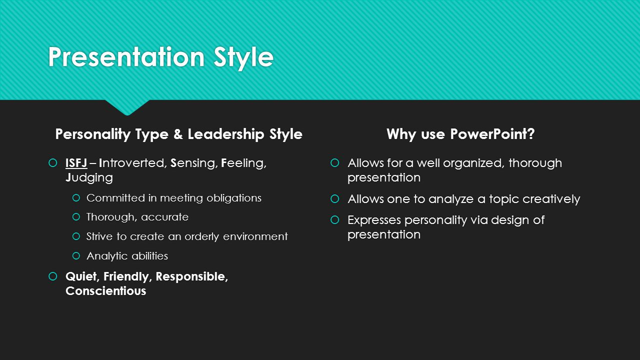 Personality Type & Leadership Style