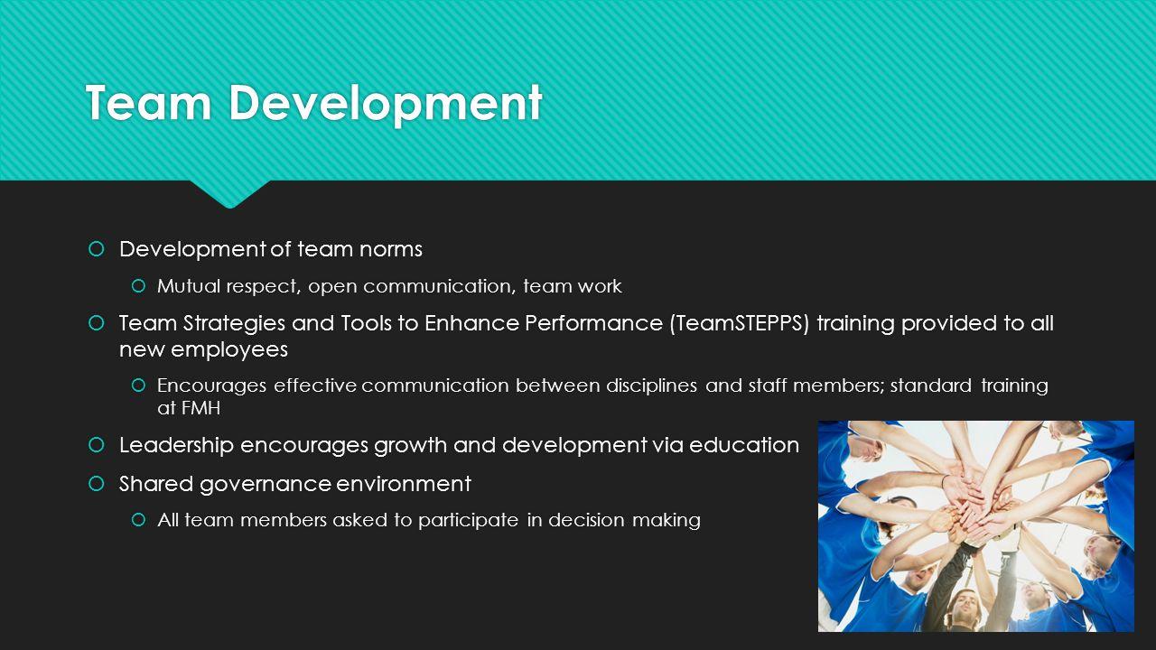 Team Development Development of team norms