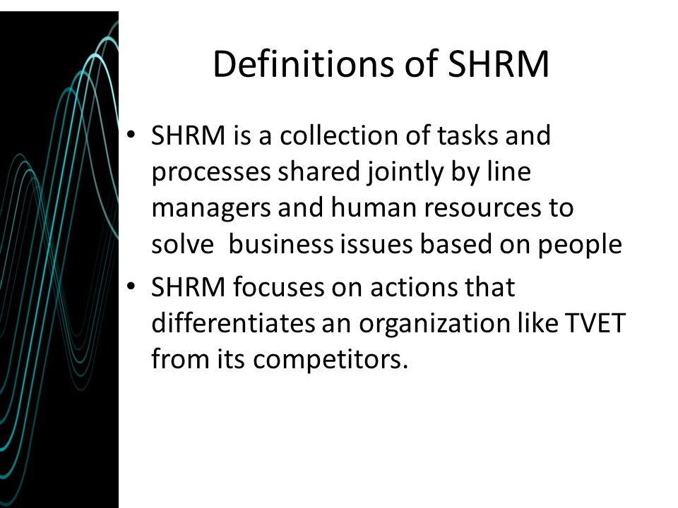 Definitions of SHRM