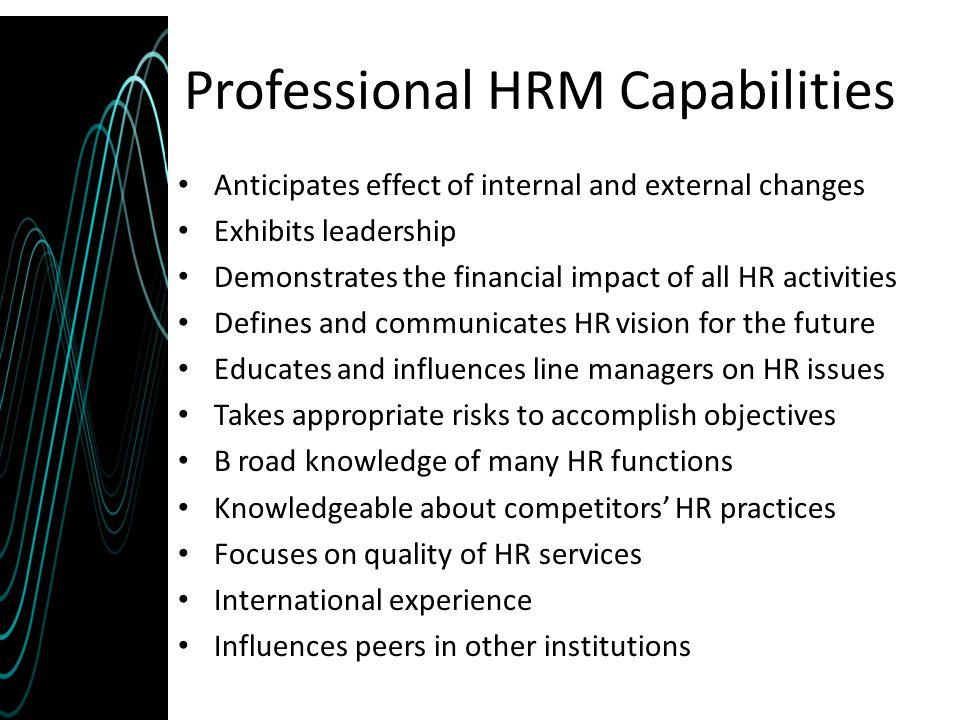 Professional HRM Capabilities