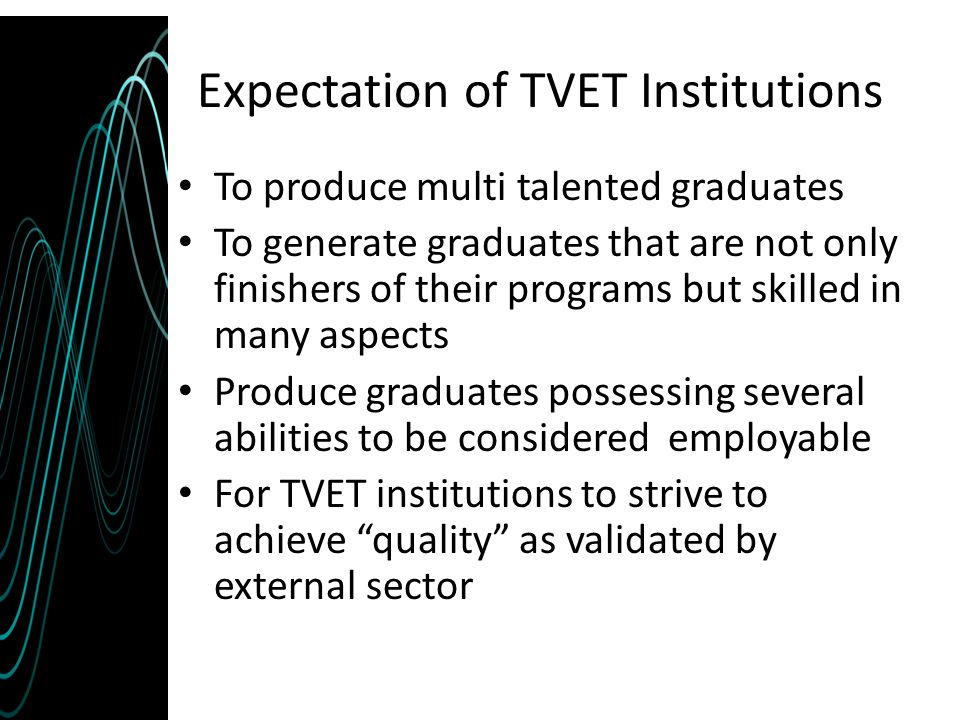 Expectation of TVET Institutions