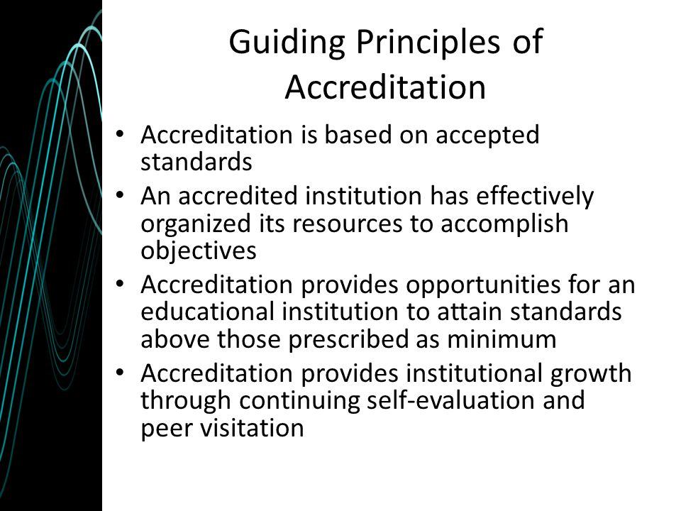 Guiding Principles of Accreditation