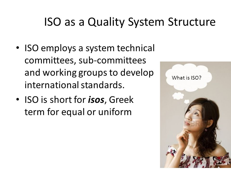 ISO as a Quality System Structure