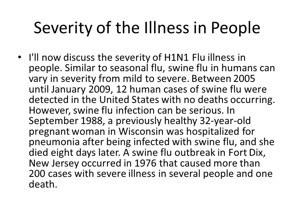 Severity of the Illness in People
