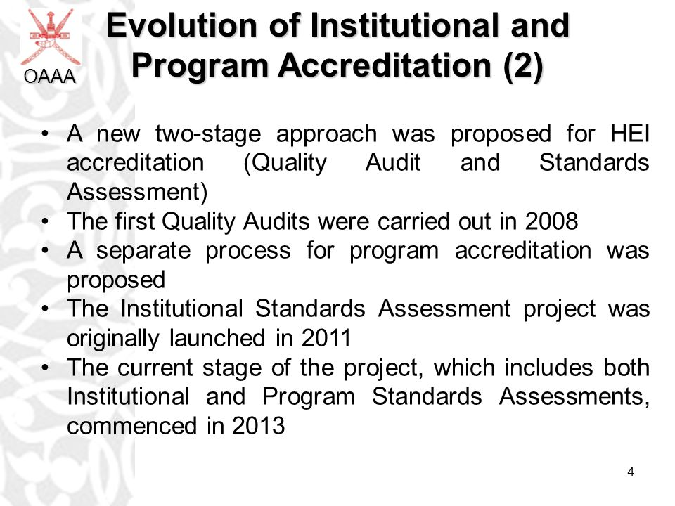 Evolution of Institutional and Program Accreditation (2)