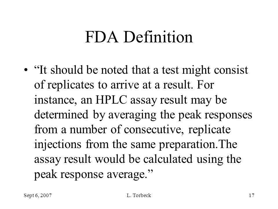 FDA Definition
