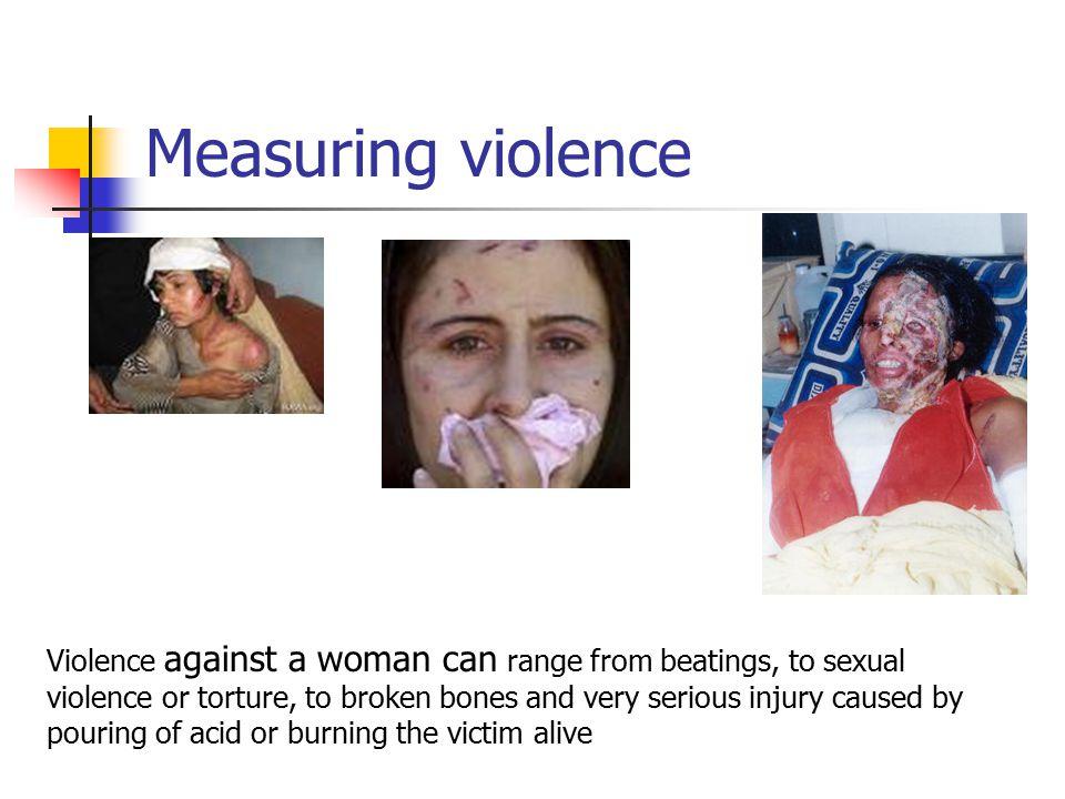Measuring violence