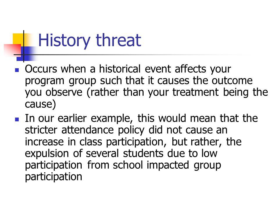 History threat