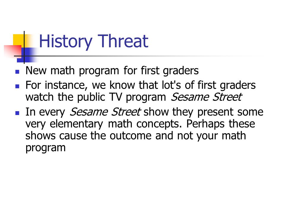 History Threat New math program for first graders