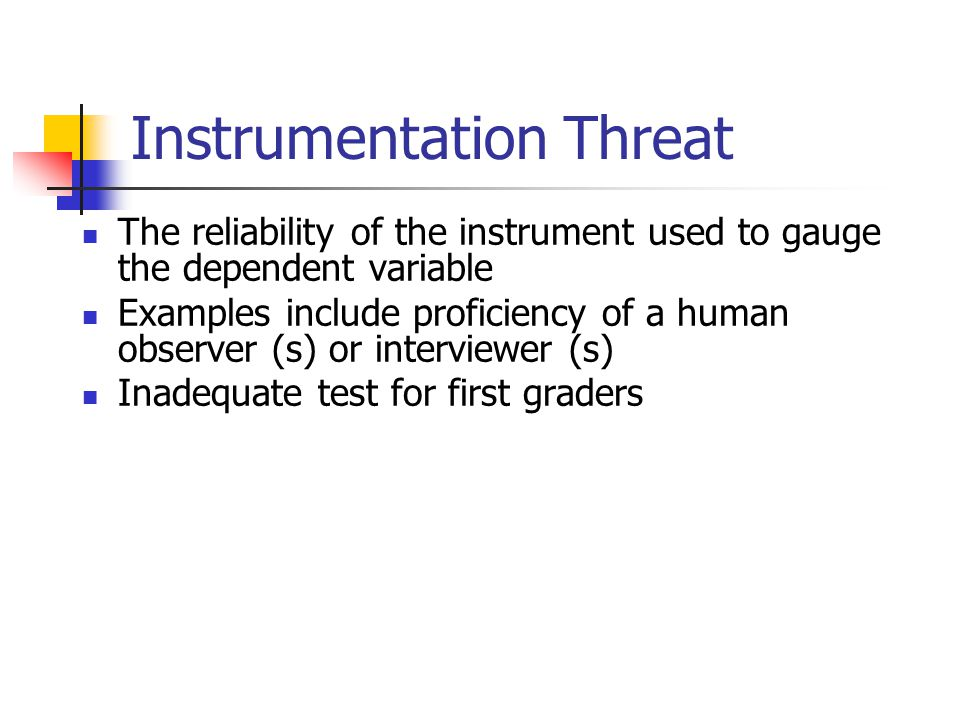 Instrumentation Threat