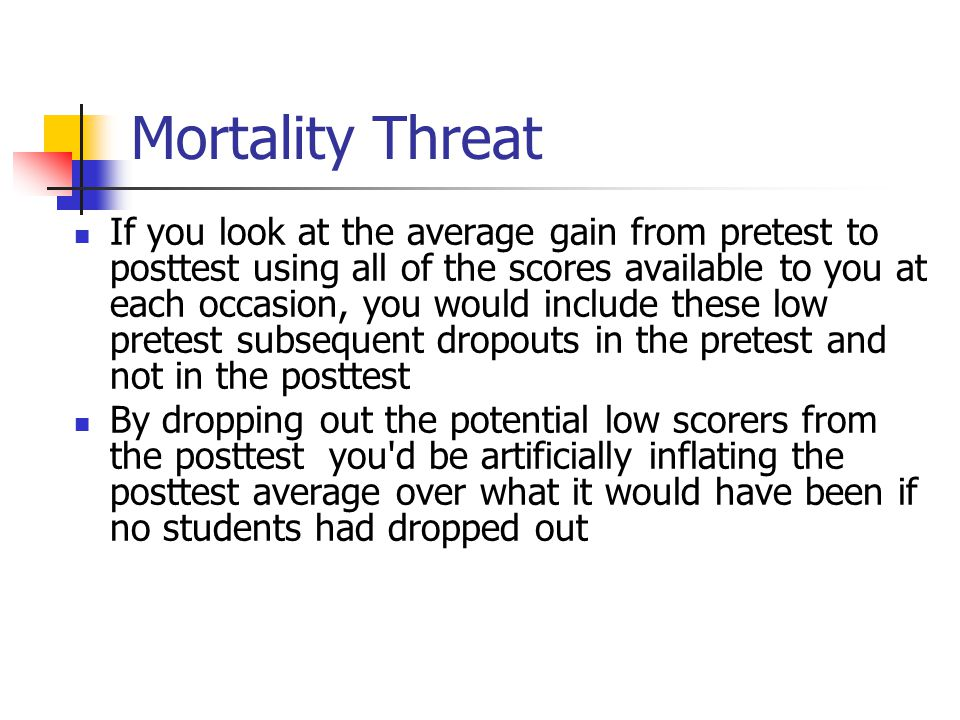 Mortality Threat