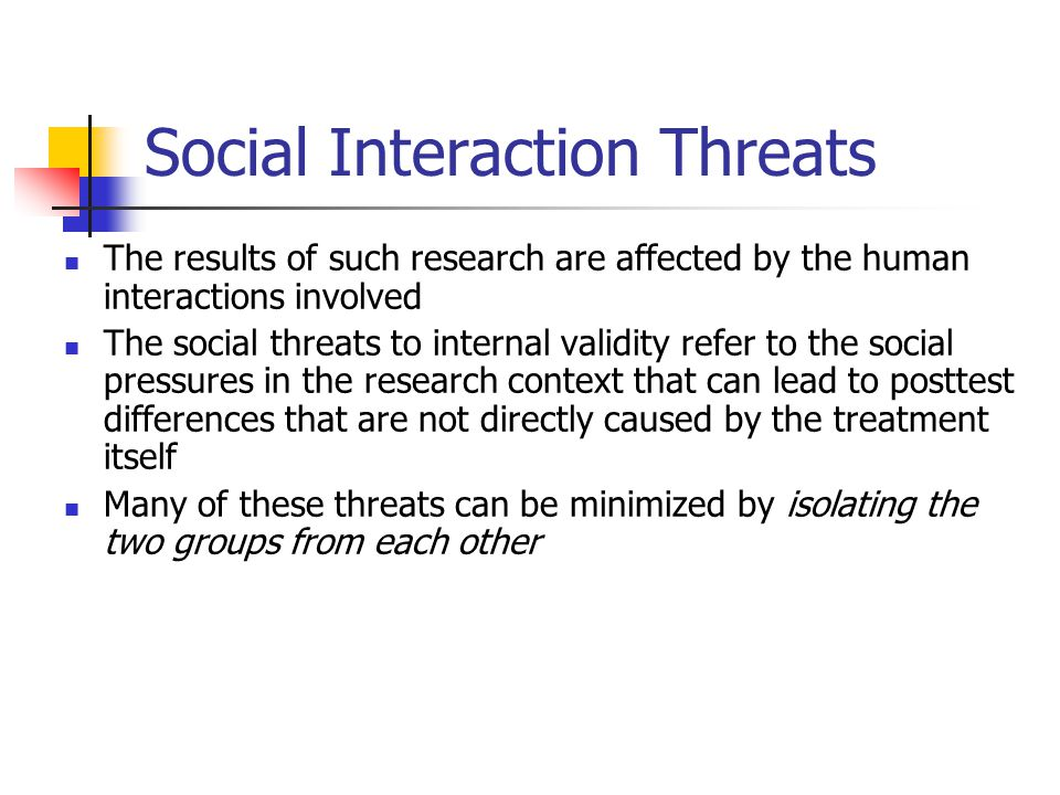 Social Interaction Threats