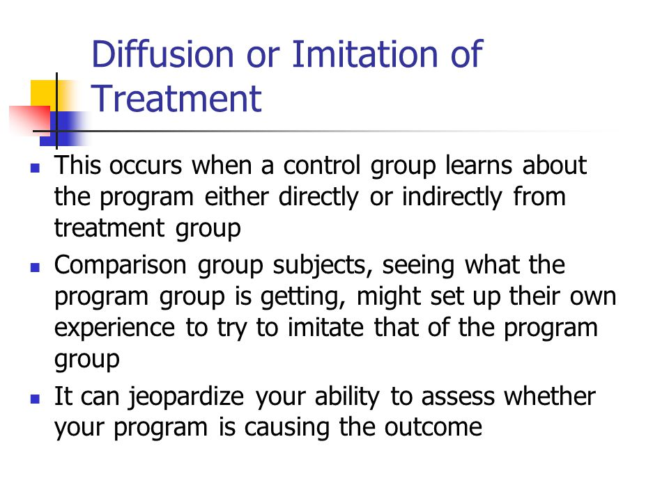 Diffusion or Imitation of Treatment