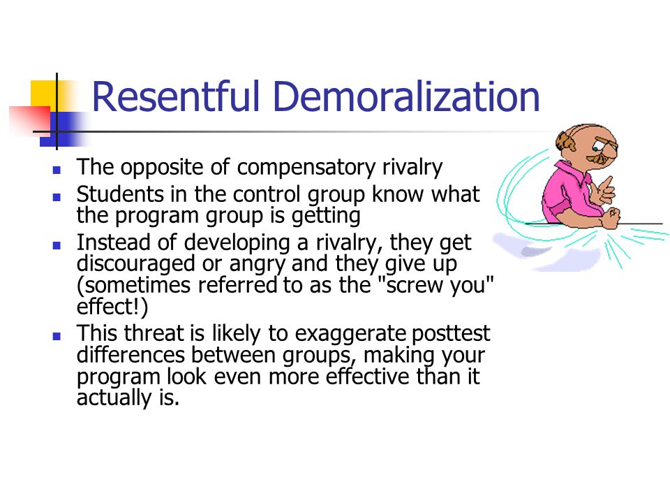 Resentful Demoralization