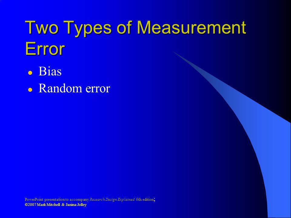 Two Types of Measurement Error