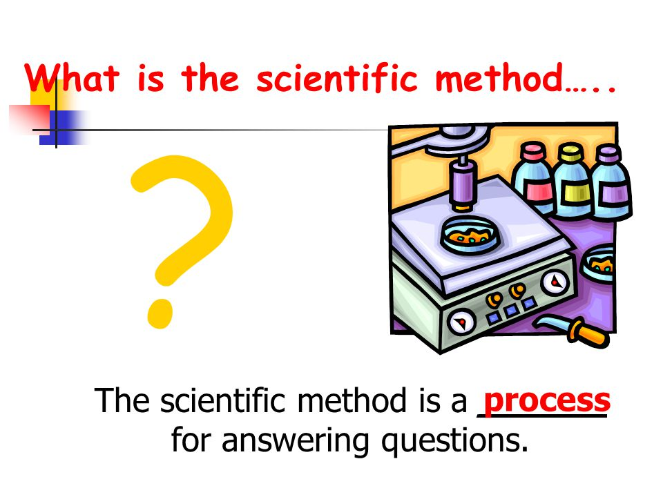What is the scientific method…..