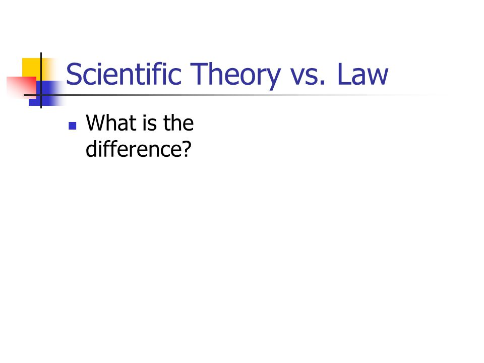 Scientific Theory vs. Law