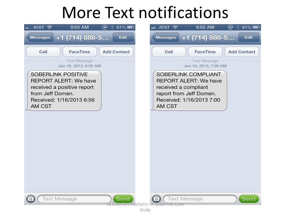 More Text notifications
