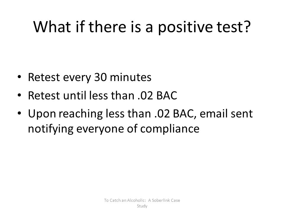 What if there is a positive test