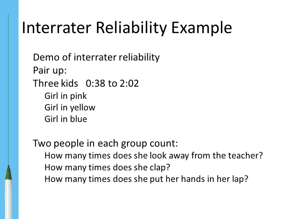 Interrater Reliability Example