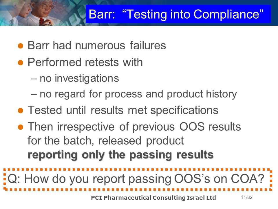 Barr: Testing into Compliance