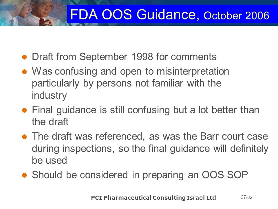FDA OOS Guidance, October 2006