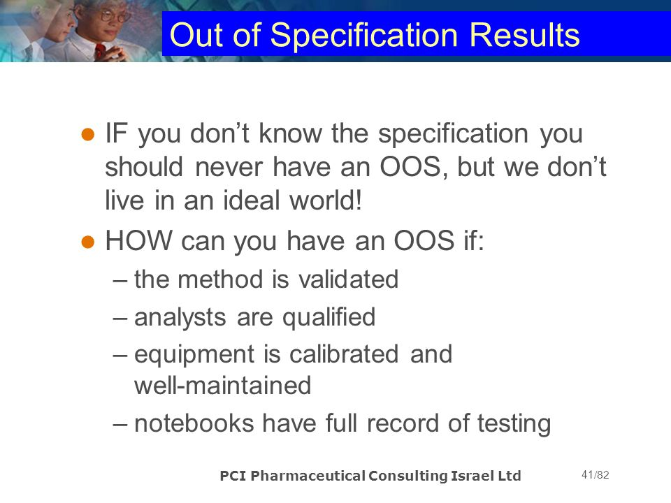 Out of Specification Results