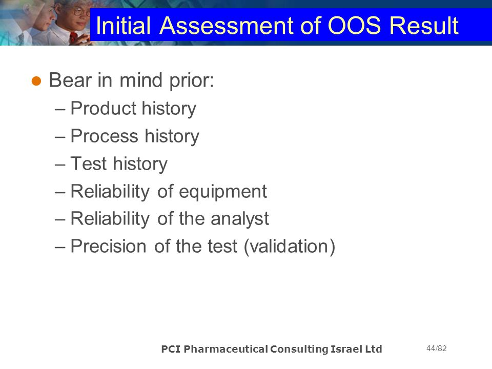 Initial Assessment of OOS Result