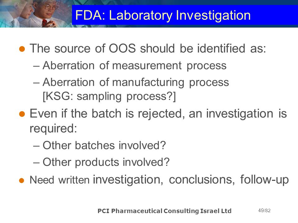 FDA: Laboratory Investigation