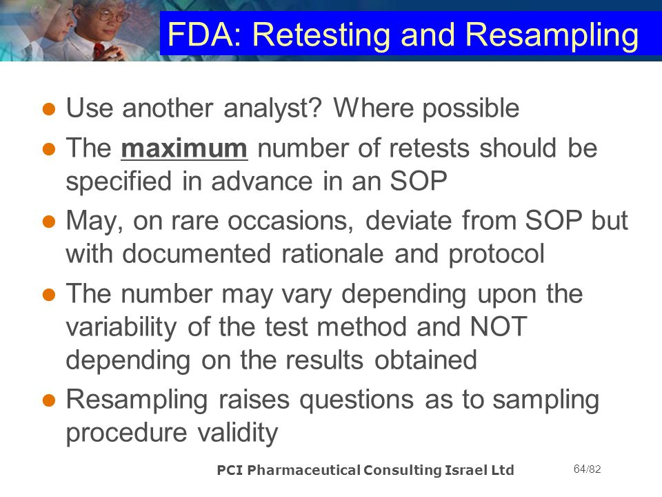 FDA: Retesting and Resampling