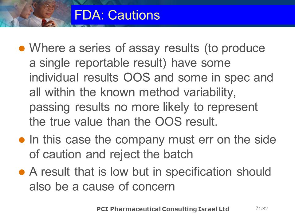 FDA: Cautions